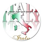 italy country(blk) T-Shirt.png Round Car Magnet