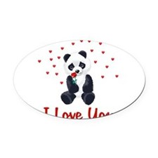 iloveyou02a.png Oval Car Magnet
