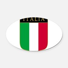 Italia Oval Car Magnet