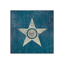 "Vintage Houston Flag Square Sticker 3"" x 3"""