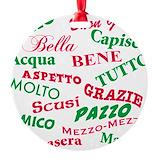 Ciao Ornaments