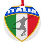 2-italia soccer.png Round Ornament