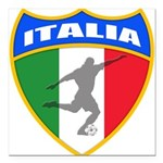 2-italia soccer.png Square Car Magnet 3