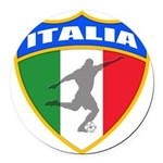 2-italia soccer.png Round Car Magnet