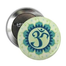 "Lotus Aum Green 2.25"" Button"
