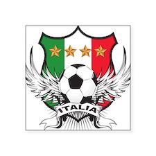 """2-italia soccer.png Square Sticker 3"""" x 3"""""""