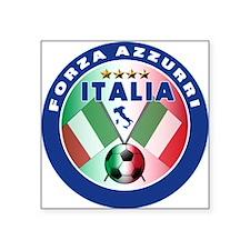"""Forza azzurri(blk).png Square Sticker 3"""" x 3"""""""