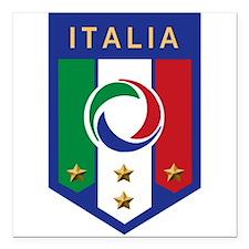 """italian emblem.png Square Car Magnet 3"""" x 3"""""""