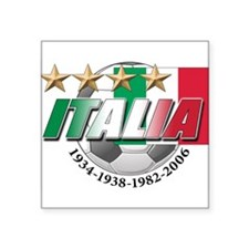 "italia soccer T-Shirt.png Square Sticker 3"" x 3"""