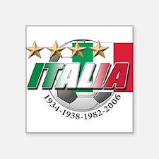 "italia soccer T-Shirt.png Square Sticker 3"" x 3"""