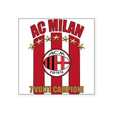 "AC Milan Campioni T-Shirt.png Square Sticker 3"" x"