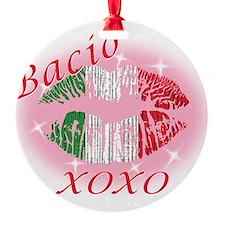 bacio(blk).png Round Ornament