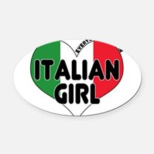 Italian girl T-Shirt.png Oval Car Magnet