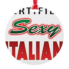 Italian CSI T-Shirt.png Round Ornament