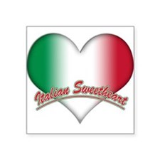 "italian sweetheart(white).png Square Sticker 3"" x"