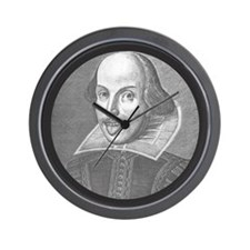 Wacky Shakespeare Wall Clock