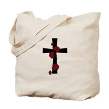 Red Flower Cross Tote Bag