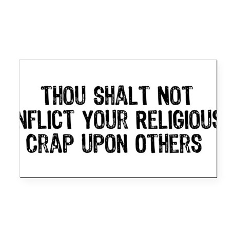 religious_crap01.png Rectangle Car Magnet