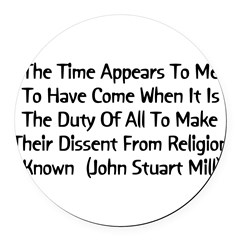 2_millquote01.png Round Car Magnet