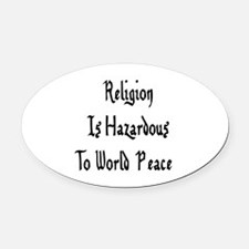 religion01a.png Oval Car Magnet
