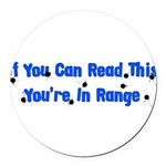 target_practice01.png Round Car Magnet