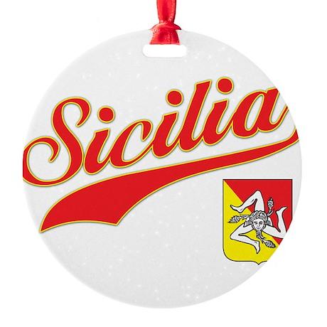 sicilia.png Round Ornament