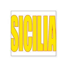 """SICILIA V3(BLK).png Square Sticker 3"""" x 3"""""""