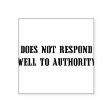 "antiauthority01x.png Square Sticker 3"" x 3"""