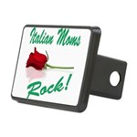 italian moms (white).png Rectangular Hitch Cover