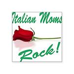 italian moms (white).png Square Sticker 3