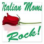 italian moms (white).png Square Car Magnet 3