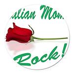 italian moms (white).png Round Car Magnet
