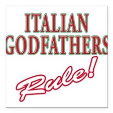 """Italian godfather.png Square Car Magnet 3"""" x 3"""""""