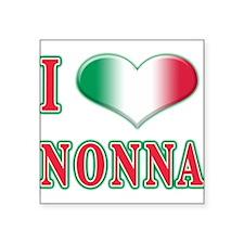 """i Love Nonna A(white).png Square Sticker 3"""" x 3"""""""
