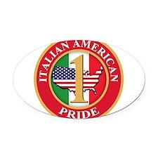 Italian american Pride Oval Car Magnet