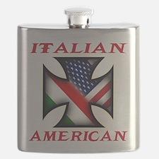 Italian american(blk).png Flask