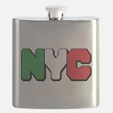 New York Italian pride Flask