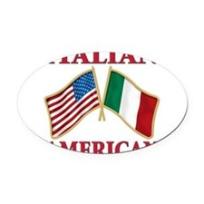 Italian american(blk).png Oval Car Magnet