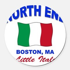 NORTH END.png Round Car Magnet