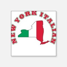 "3-new york italian.png Square Sticker 3"" x 3"""