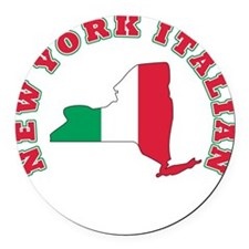3-new york italian.png Round Car Magnet