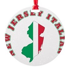 new jersey italian.png Round Ornament