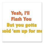 flash01.png Square Car Magnet 3