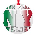 italian Long island T-Shirt.png Round Ornament