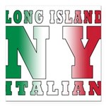 italian Long island T-Shirt.png Square Car Magnet