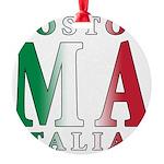 3-Boston Italian.png Round Ornament