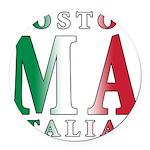 3-Boston Italian.png Round Car Magnet