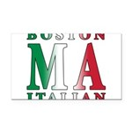 3-Boston Italian.png Rectangle Car Magnet
