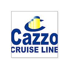 """cazzo cruise line.png Square Sticker 3"""" x 3"""""""