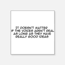 """voices01a.png Square Sticker 3"""" x 3"""""""